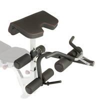 Fitness Reality Unisex x-Class Olimpico bicipiti e Leg Developer Attachment, Nero, Taglia Unica