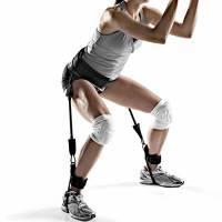Ueasy - Attrezzo da salti per allenare forza e agilità delle gambe, SSEBT, Arancione: 45,4 kg., elastic rope length 35 cm total length 40CM