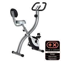 Ultrasport Trainer da Casa F-Bike 200B, con Sensori delle Pulsazioni con Schienale Ripiegabile Unisex-Adulto, Argento/Nero, Taglia Unica