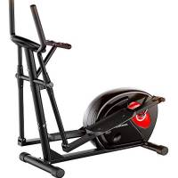 Lumiereholic Ellittiche Crosstrainer Ergometro Trainer Ellittica Pedali Antiscivolo Cyclette a casa con Resistenza Magnetica LCD