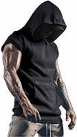 Cabeen Uomo Bodybuilding Felpa con Cappuccio da Palestra Fitness Canotta Sportivi Maglia Senza Maniche Gym Tank Top con Tasche