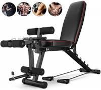 GHJKL Panca Fitness Regolabile, Regolabile Panca for Esercizi Addominali, con Leg Extension E Leg Curl per Allenamento Tonificazione dei Muscoli E Aumento della Forza