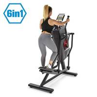 Capital Sports Helix Stride - Ellittica, Cyclette, 6 in 1: Stepper/Climber/Bike/Runner/Air Walker/Ellittica, Allenamento ad Alta Efficienza, MagResist: Resistenza Magnetica a 32 Livelli, Nera