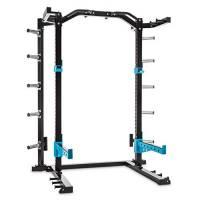 Capital Sports Amazor - Basic Power Rack, Safety Spotter: 500 kg, J-Cup: Max. 350 kg, Barra Trazioni: Max. 150 kg, Acciaio Rivestito a Polveri, Supporto Centrale: 60 x 60 x 2 mm (LxPxØ), Nero/Giallo