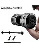 MezoJaoie 15-20kg Set manubri regolabili, Peso della mano con manubri solidi per manubri Manubri per allenamento muscolare