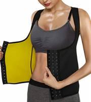 Roseate Tuta Sauna Dimagrante Donna Gilet Sportivo Perdere Peso Fitness T Shirt Sauna Formazione Canotta Compressione in Neoprene con Chiusura Gancio S
