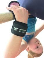 Freedomstrength®, paracalli da ginnastica per bambini, con polsini imbottiti e chiusura a velcro , Blue, L