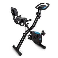 Capital Sports Azura X2 - Ergometro, Hometrainer, Fitness-Bike, X-Bike, Training Computer, Resistenza Regolabile 8 Livelli, Salva Spazio, Supporto Schienale, Max. 120 kg, con Braccioli, Nero