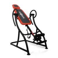 Klarfit Relax Zone Pro panca a inversione gravitazionale palestra fitness (max 150 Kg, 20 livelli di regolazione, imbottitura in schiuma, telaio in acciaio, giunti autobloccanti) - rosso