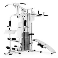 Klarfit Ultimate Gym 5000 - K5, Palestra Multifunzione, Palestra in Casa, Ideale per Butterly, Dips, Rows, Push up e SitUp, Regolazione Peso e Carrucola, Colore Bianco