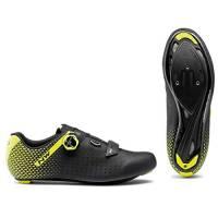Northwave Scarpe Ciclismo Strada Uomo Core Plus 2 Nero/Giallo Fluo - Numero 44