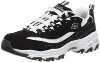 Skechers D'Lites-Biggest Fan-11930, Scarpe da Ginnastica Donna, Nero (Black 11930-bkw), 41 EU