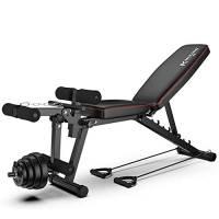 ZYXP Regolabile Panca banco di Allenamento Olimpico Bench Press, Corpo Solido Leg Extension Leg Curl Machine, Posizioni Regolabili Panca for Full Body Workout