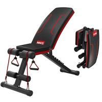 Songsh - Panca da allenamento portatile con inclinazione regolabile, multiuso, per esercizi fisici