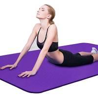 Binwwe Tappetino Yoga di Spessore Antiscivolo Tappetino per la casa/Allenamento/Palestra/Fitness/Sport/Rilievo di Esercizio (Purple, 173cmX60cmX0.6cm)