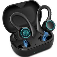 Cuffie Bluetooth Sport Aoslen Auricolari Bluetooth 5.0 Cuffie Senza Fili Intrauricolari Sportive Reali Impermeabile IPX7 con Hi-Fi Stereo Microfono 30 Ore di Riproduzione con Custodia di Ricarica