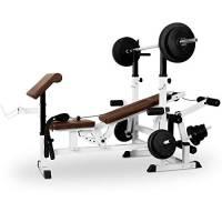 Klarfit KLARFIT-KS02 Stazione fitness allenamento multifunzione palestra (Carico massimo 280 kg, panca allenamento e panca curl con supporto per pesi, curler per le gambe, butterfly)