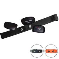 Fitness Prince Tessile Cintura toracica per Polar Garmin–circonferenza petto 65–100cm–regolabile elastico Stretch Soft nastro, Nero
