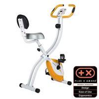 Ultrasport Trainer da Casa F-Bike 200B, con Sensori delle Pulsazioni con Schienale Ripiegabile Unisex-Adulto, Arancione, Taglia Unica