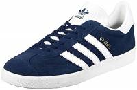 adidas Gazelle, Scarpe da Ginnastica Basse Uomo, Blu (Collegiate Navy/White/Gold Met), 44 EU