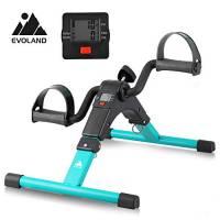 EVOLAND Mini Cyclette da Casa, Esercitatori Pedaliera Cyclette Fitness per Braccia e Gambe Pedaliera Regolabile Digitale Mani e Piedi Pedale con LCD Display