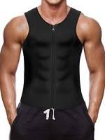 Gotoly Uomo Neoprene Shapewear Camicia A Compressione Gilet Dimagrante Body Shaper Canotta da Allenamento Gilet Sauna Sportivo Sudore Muscolare (M, Nero)