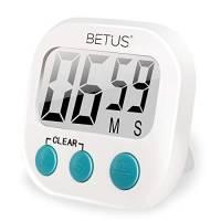 Betus Timer da Cucina Digitale - Numeri Grandi, Funzionamento Semplice E Allarme Forte - Supporto Magnetico O da Tavolo - Cronometro E Conto alla Rovescia per Cucinare/Sport/Ufficio