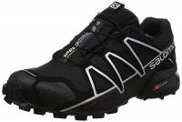 Salomon Speedcross 4 GTX, Scarpe da Trail Running Uomo, Nero (Black/Black/Silver Metallic-X) , 44 EU