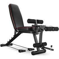 HHXX Panca Fitness Richiudibile Panca Allenamento Regolabile con Leg Extension E Leg Curl per Allenamento Tonificazione dei Muscoli E Aumento della Forza