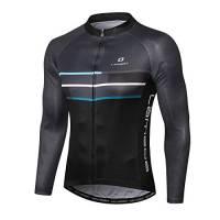 LAMEDA Maglia Ciclismo da Uomo Maniche Lunghe MTB Traspirante Asciugatura Veloce Sportivo(XL)
