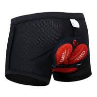 X-TIGER Ciclismo Uomo 5D Gel Imbottito Boxer Traspirante Biancheria Intimo Mutande Pantaloncini da Ciclismo Bici-Nero,L