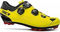 SIDI Scarpe Ciclismo MTB Eagle 10 Uomo, Black-Yellow Fluo, 45