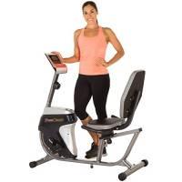 Fitness Reality R4000Magnetico Tension Recumbent Bike Allenamento con Obiettivo, Computer, Grigio/Nero