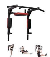 Pull up Fitness Pullup Fitness - Barra di trazione per Adulti, Unisex, Colore: Nero/Rosso