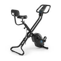 Capital Sports Azura X2 - Ergometro, Hometrainer, Fitness-Bike, X-Bike, Training Computer, Resistenza Regolabile 8 Livelli, Salva Spazio, Supporto Schienale, Max. 120 kg, Nero