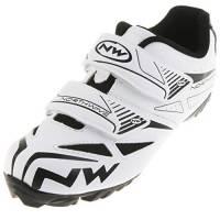 Northwave Jet 365 Evo Fahrrad MTB Schuhe Klettverschluss Schuhplatte Cleats Rad Sport, 80154003, Farbe Weiß, Größe 41