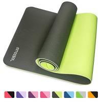 arteesol, Tappetino per Yoga, Fitness, Tappetino per Esercizi di Fitness. per Yoga, Pilates e Esercizi a Pavimento (Verde Scuro)