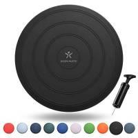 BODYMATE Cuscino propriocettivo Gonfiabile per Equilibrio Comfort Nero comprensivo di Pompa Vari Colori Diametro 33cm