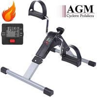 EVOLAND Mini Cyclette Pedaliera Fitness Pieghevole per Braccia e Gambe con LCD Display Pedaliera da Casa Regolabile Digitale Mani e Piedi(Exercise Pedal Bike)