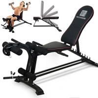 Multifunzione manubri panca, regolabile Panca for esercizi addominali, Sit Up AB banco di allenamento, Panca Fitness con Leg Extension Leg Curl e, apparecchiatura domestica di ginnastica for uomo e do