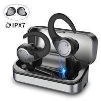 【2020 Ultimo Modello】Cuffie Bluetooth Sport, Auricolari Bluetooth Senza Fili Hi-Fi Bass Cuffiette in Ear con Custodia di Ricarica, IPX7 Impermeabile CVC8.0 Cancellazione di Rumore 8+40H Ascolto