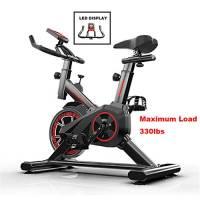 Fitness Cyclette,Sport Bici Per Fitness Cyclette Al Coperto,Cyclette Professionale Regolabile Con Display LCD,Attrezzatura Per L'allenamento Di Allenamento Comoda Sella Per Cuscino ,Nero,110*85*45cm