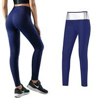 MATEHOM Leggings Dimagrante Donna Fitness, Pantaloni Sportivi Vita Alta, Leggings Anticellulite in NANOTECHNOLOGIE per Sudorazione (S)