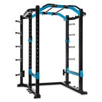 Capital Sports Amazor P PRO - Power Rack, Safety Spotter: Max. 500 kg, J-Cup: Max. 350 kg, Monkey Bar: Max. 200 kg, Barra per Trazioni: Max. 150 kg, Acciaio Rivestito a Polveri, Nero Carbone