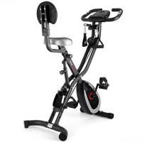 Ultrasport F-Bike 400BS, Cyclette da Allenamento Cross con Schienale Funi Display LCD & App Pieghevole Unisex-Adulto, Grigio Scuro/Nero, Taglia Unica