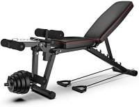 Regolabile Panca banco di Allenamento Allenamento Olimpico Bench Press, Corpo Solido Leg Extension Leg Curl Machine, 5 Posizioni Regolabili Panca for Full Body Workout