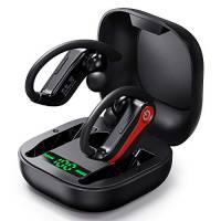 Cuffie Bluetooth, Auricolari Senza Fili Bluetooth 5.0 con Accoppiamento Automatico con Display a LED, Auricolari Hi-Fi Stereo TWS con Scatola di Ricarica e Microfono per Sport/Corsa/Palestra