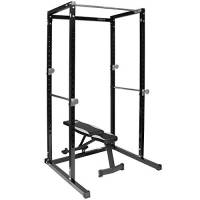 Generic * Cage S Up bar squat RA rack Pull Power S Power gabbia squat ll Up B panca pieghevole peso panchina con peso regolabile Bench