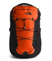 The North Face Borealis Men's Backpack, Persian Orange Ripstop/TNF Black, One Size