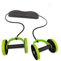 Deyan AB Ruote Roller Stretch Elastico Resistenza Addominale Corda da tiro per Addestratore di Muscoli Addominali Esercizio Palestra a casa